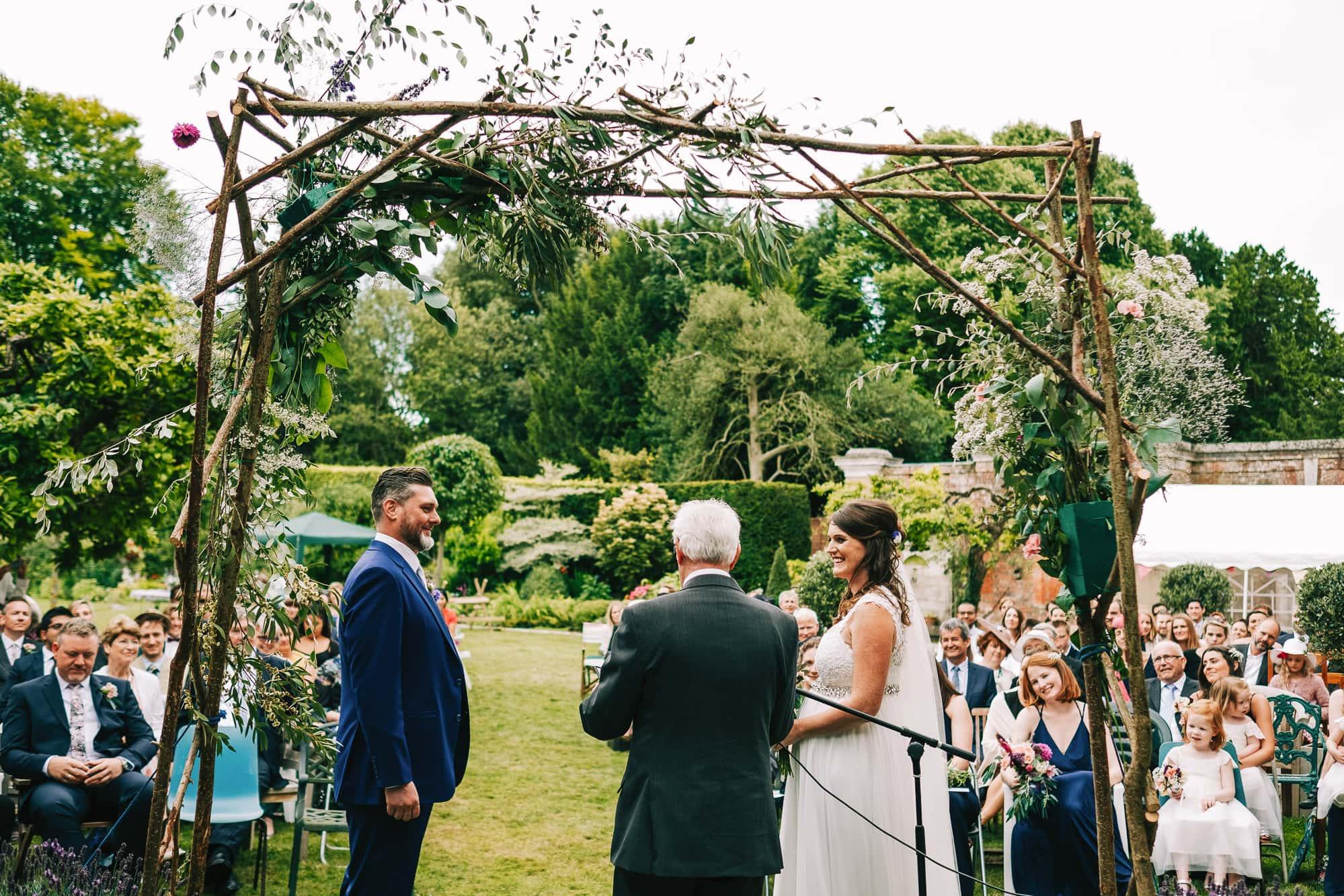Canterbury Wedding Photographer - Brides nan wishes her luck