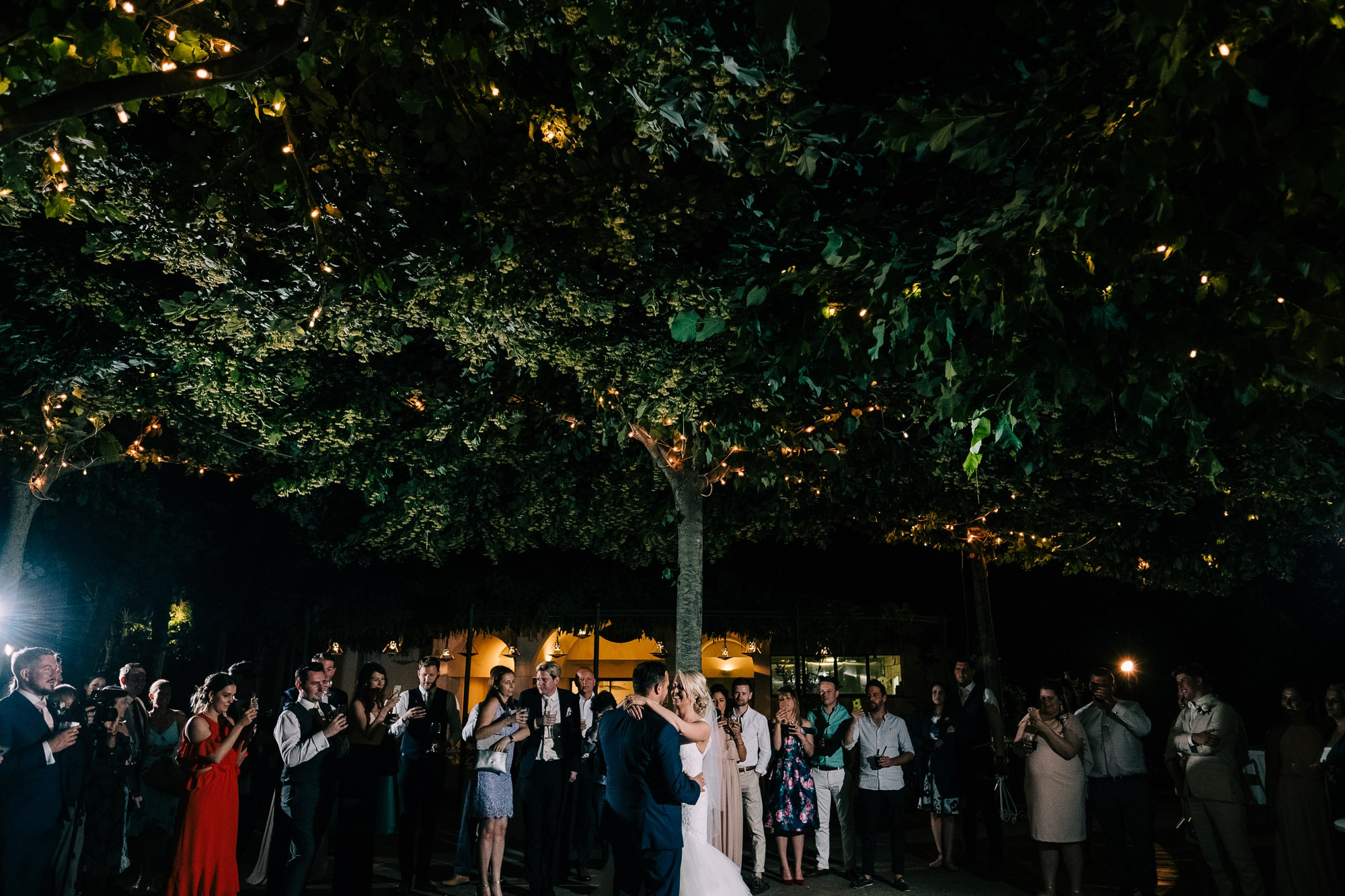 First dance outside at Villa Eva