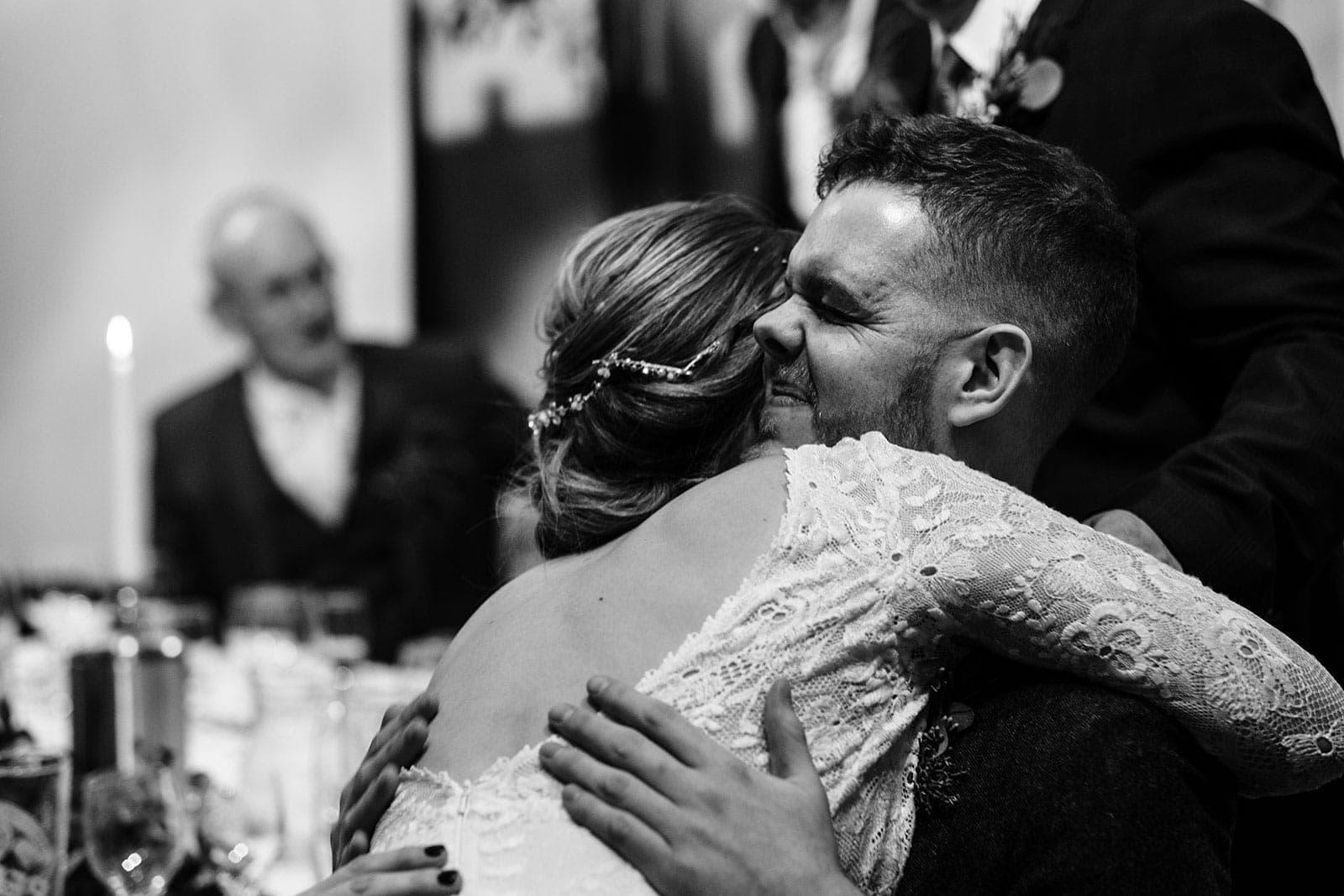 Louise hugs Steve's best man