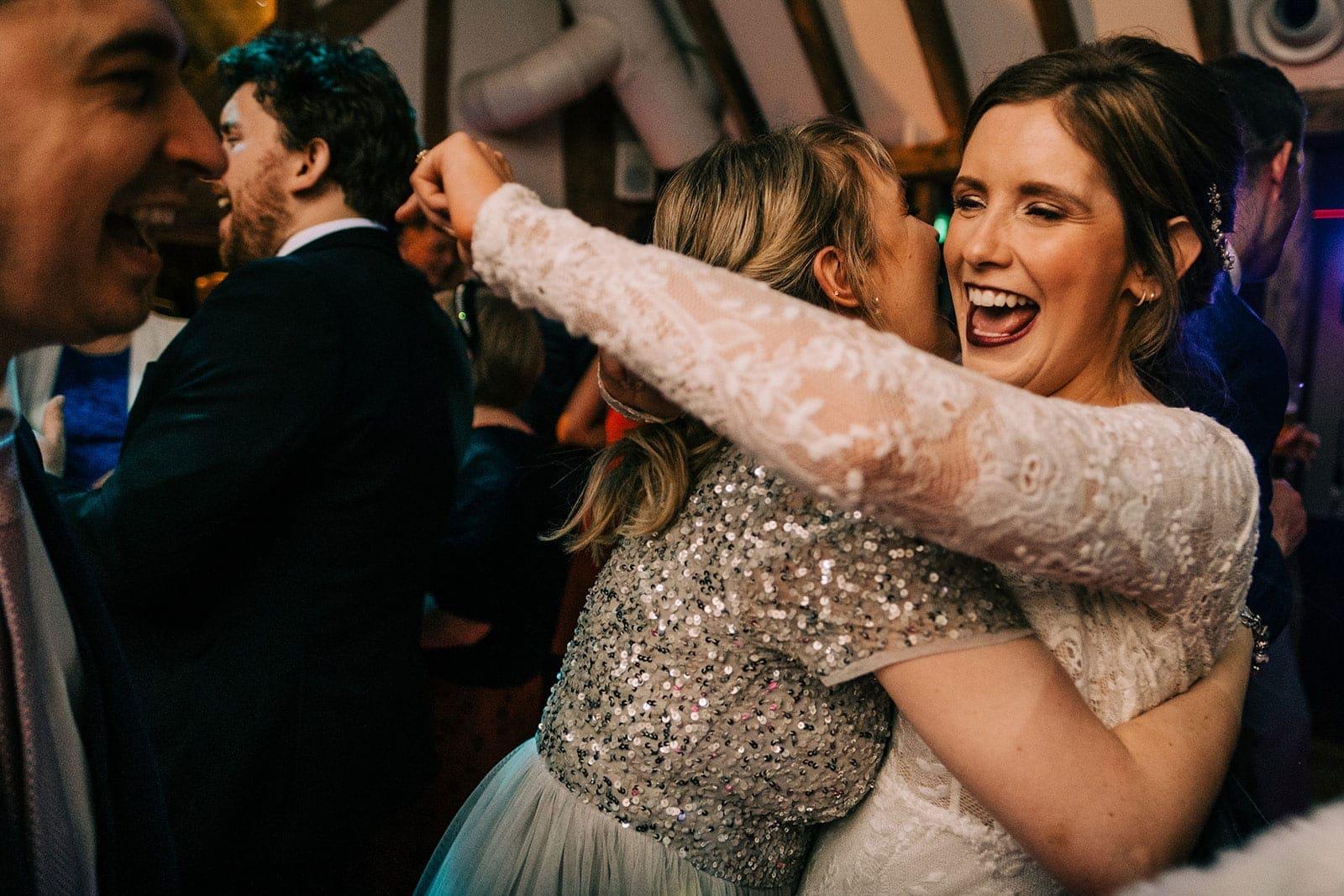 Louise parties on the dance floor
