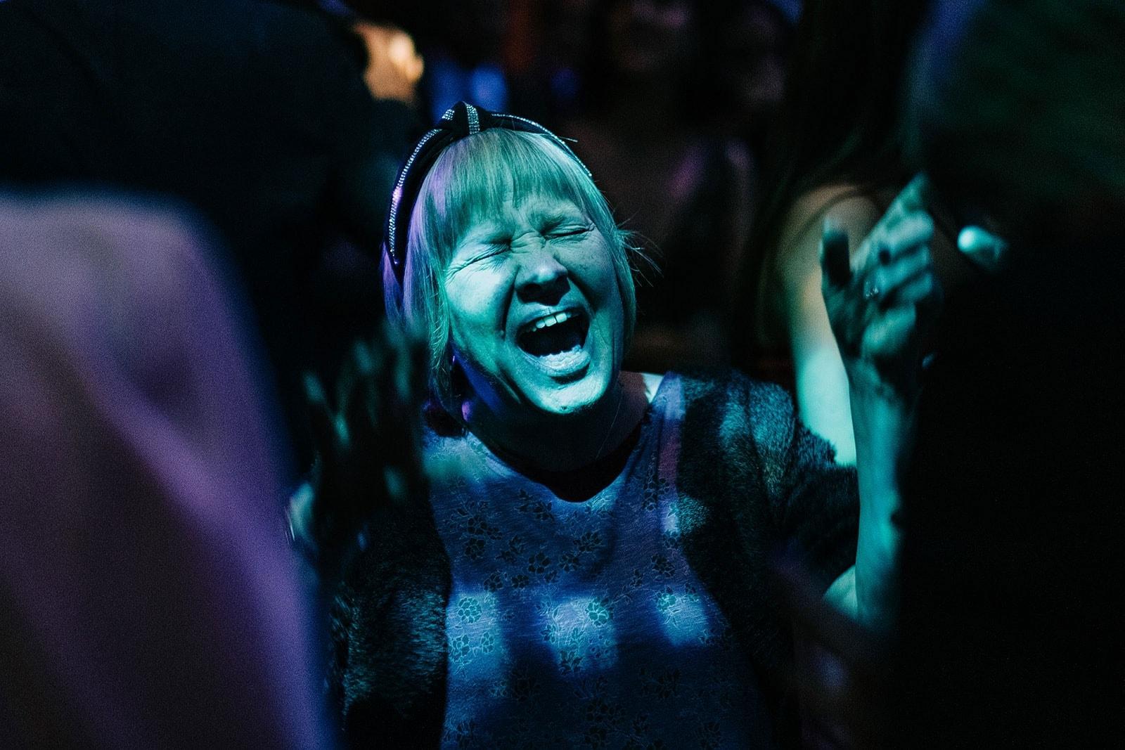 Louise's aunt parties on the dance floor