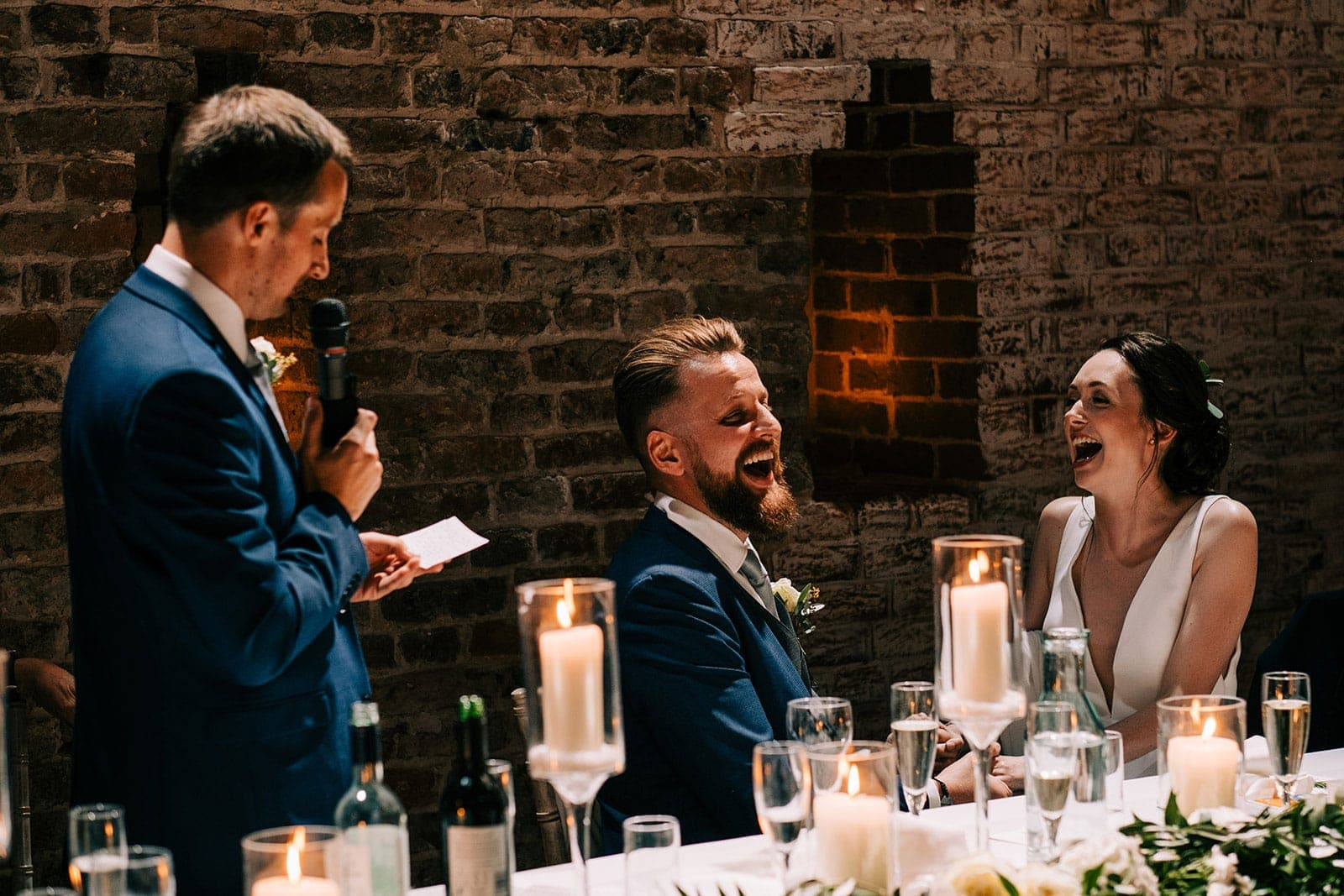 Jack's best man makes a joke during his speech