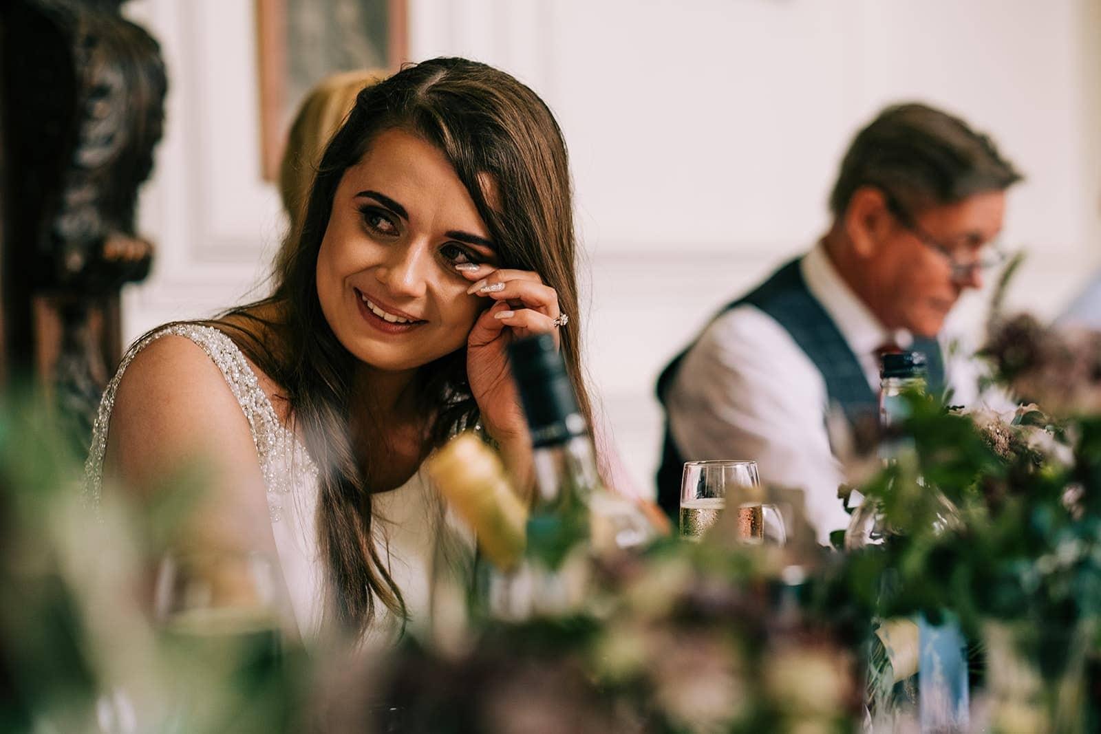 Yasmin get emotional during her bridesmaid speech