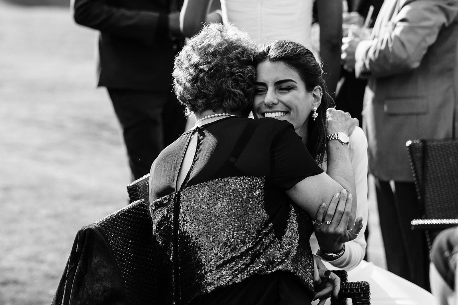 Natali hugging her Nan