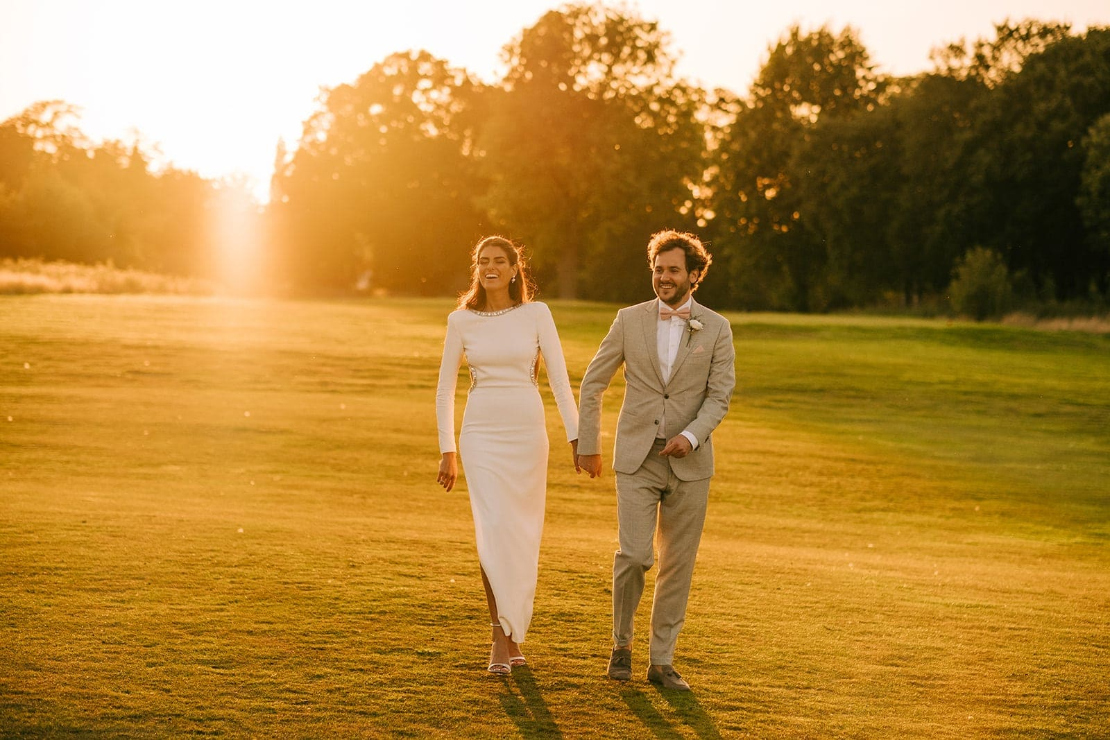 Natali & Alex walking in some stunning light