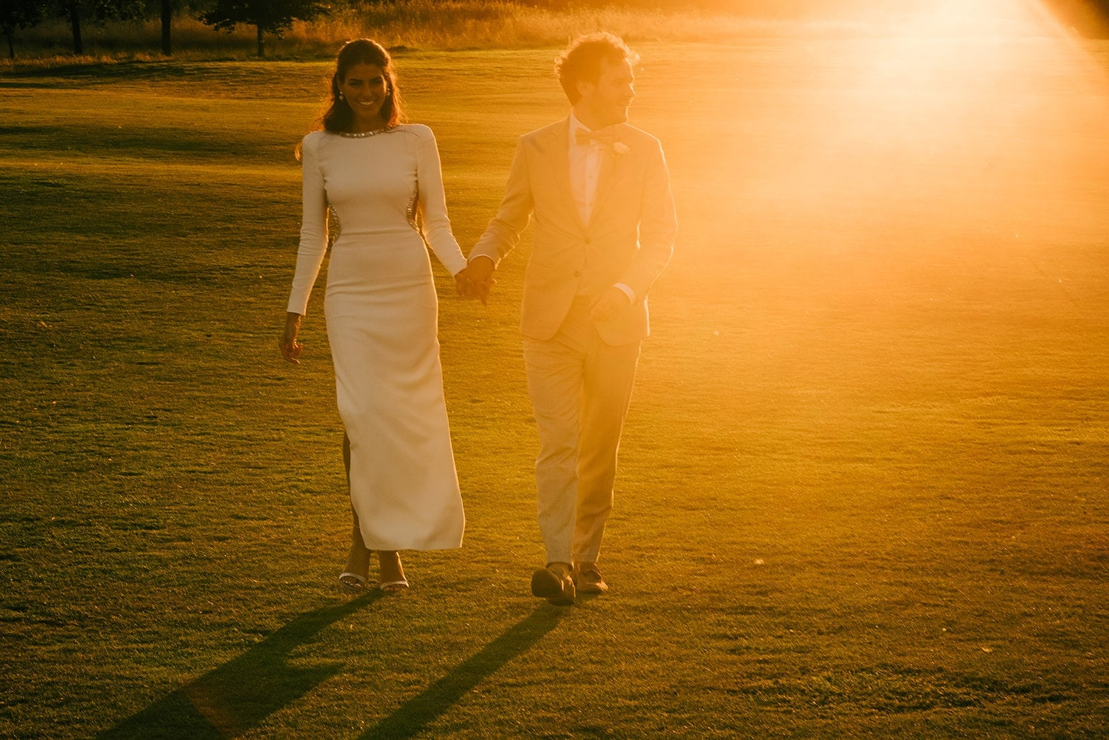 Natali & Alex walking in some beautiful light