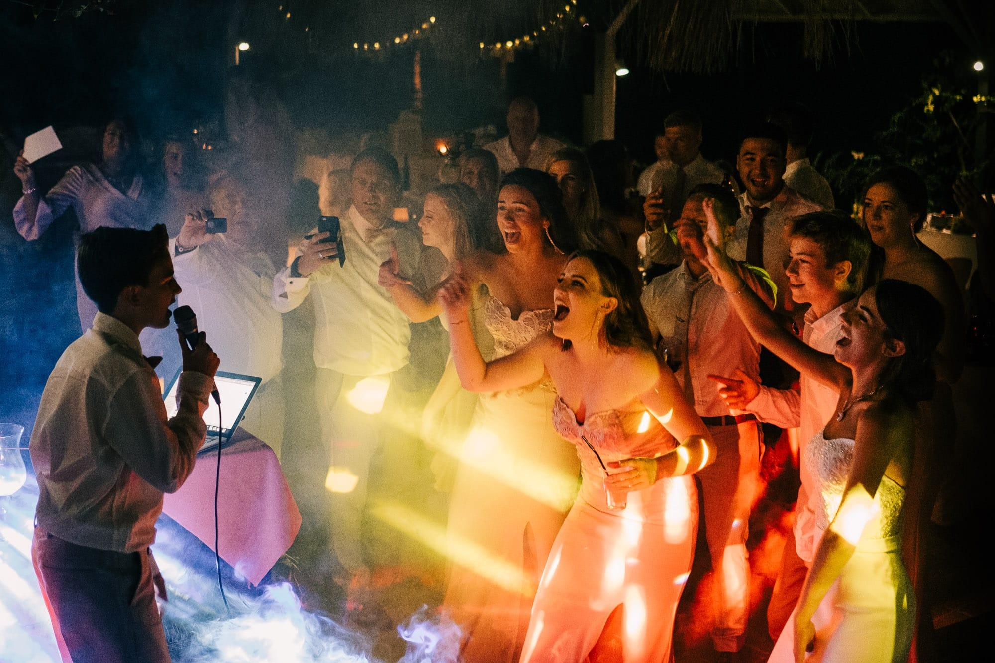 Wedding party in full swing at Villa Mavi Koy